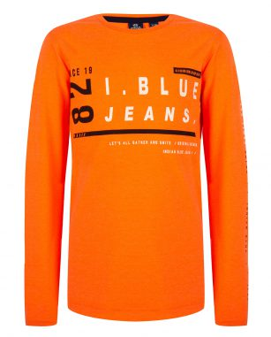 Indian Blue LS neon orange