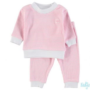 Feetje wafel pyjama roze