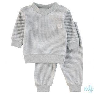 feetje wafel pyjama grijs melange