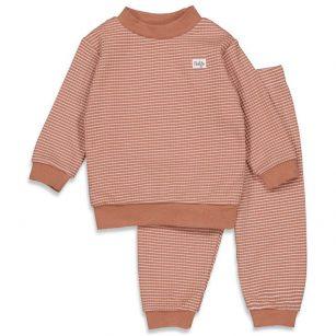 Feetje wafel pyjama hazelnut