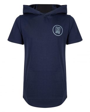 Indian Blue Jeans t-shirt hooded navy