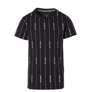 Levv Malin black text stripe