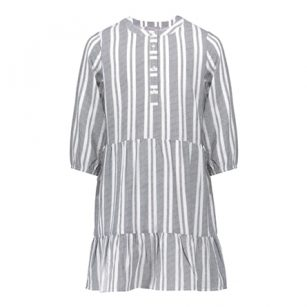 Geisha dress striped grey
