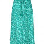 Indian Blue Jeans long skirt groen panter