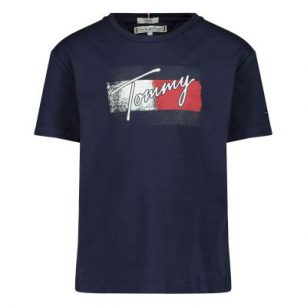 Tommy Hilfiger Flag print tee navy