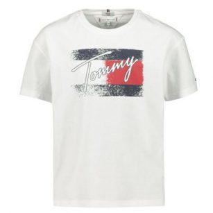 Tommy Hilfiger Flag print tee white