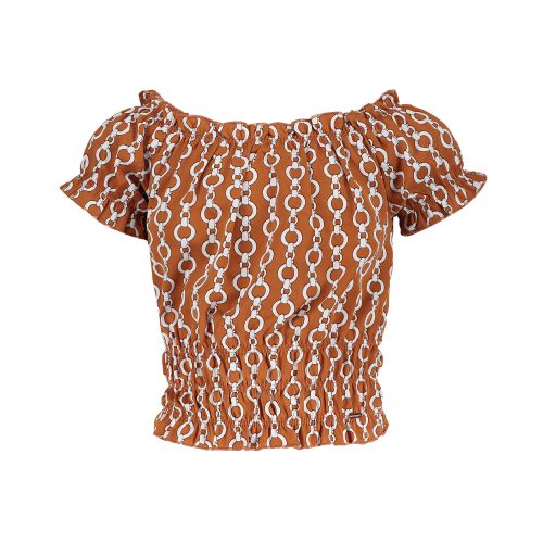 FL21315 thirza blouse chain print sienna front