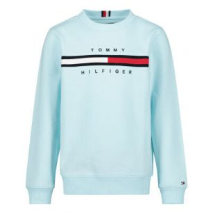 Tommy Hilfiger Flag Rib Sweat Frost blue