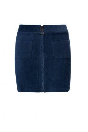 Looxs flare rib velours skirt