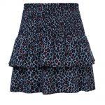 Looxs blue leopard skirt