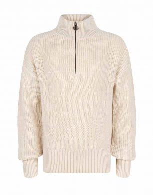 Indian Blue knitwear LS zipper